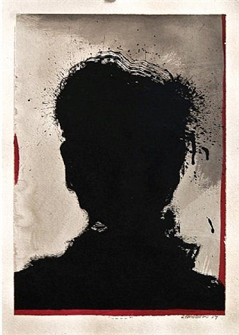 untitled (shadow painting) by richard hambleton