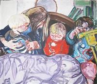 parrot bedspread by kate mccrickard