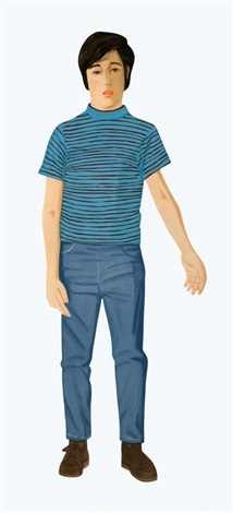 the striped shirt by alex katz