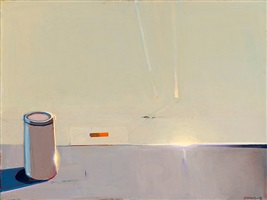 still life with a single studio item by raimonds staprans