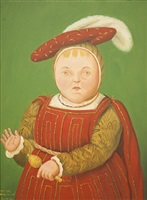 after hollbein by fernando botero