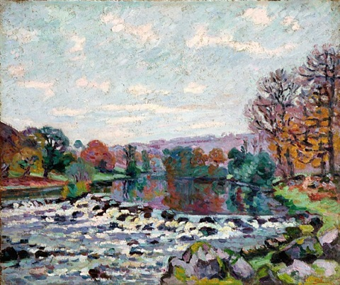 le barrage de genetin by armand guillaumin