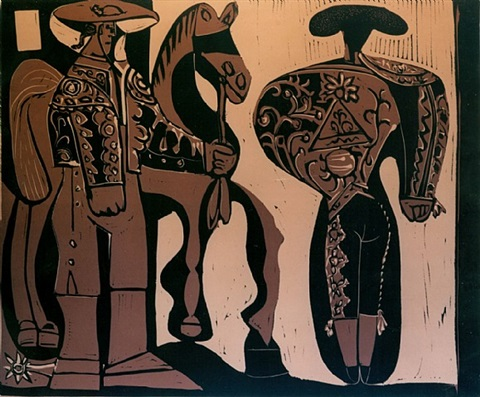 picador and torero by pablo picasso