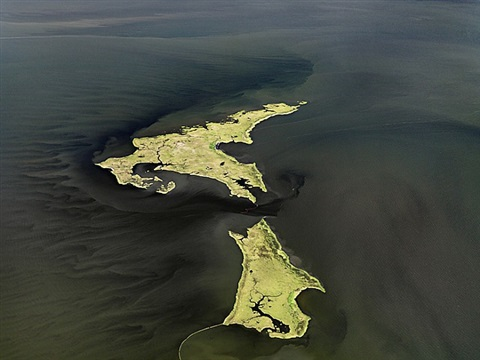 oil spill #14, marsh islands, gulf of mexico, june 24 by edward burtynsky