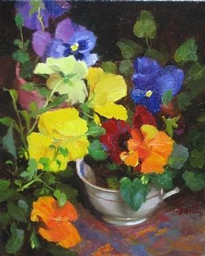 spring pansies by carol arnold