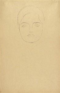 two studies of friederike maria beer by gustav klimt