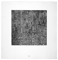 <u>birch forest</u> from das werk by gustav klimt