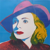ingrid bergman with hat by andy warhol