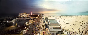 santa monica pier, from the day to night series by stephen wilkes