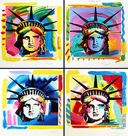 liberty heads (set of 4) by peter max