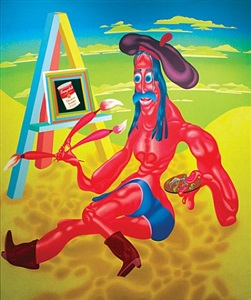 peter saul radical figure by peter saul