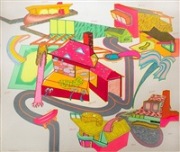 suburban houses #1 by peter saul