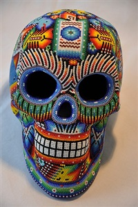 skull nr. 27 by tribe of the huichol