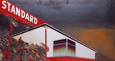 burning standard after ed ruscha by vik muniz