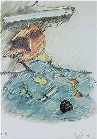 leaf boat - storm in the studio (axsom 245) by claes oldenburg
