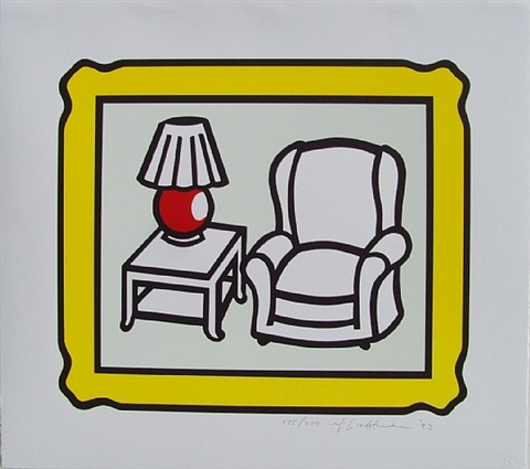 red lamp (c.279) by roy lichtenstein