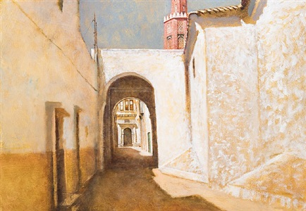 study in white, tangier by clive mccartney