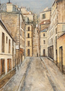 study in white, rue abbesses, paris by clive mccartney