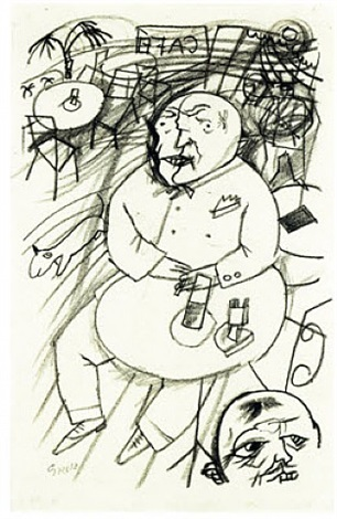 mann im cafe by george grosz