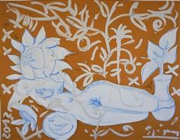 reclining nude by stefan szczesny