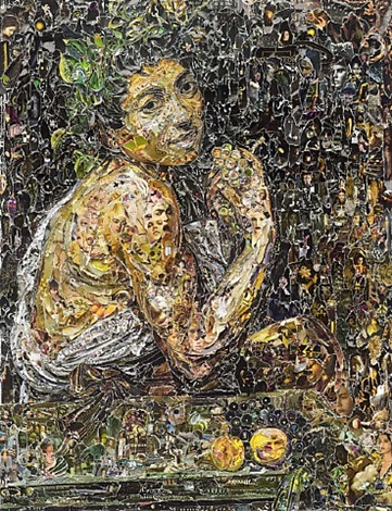 sick bacchus, after caravagio, pictures of magazine 2 by vik muniz