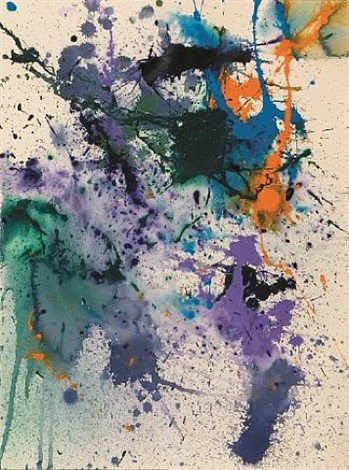 untitled sf90-369 by sam francis