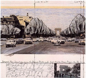 av. champs elysees by christo and jeanne-claude