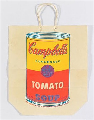 campbell's soup shopping bag by andy warhol