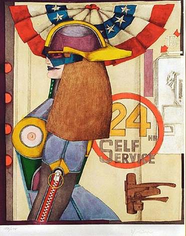 24 hour self service (from fun city portfolio) by richard lindner