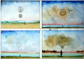 four sunsets by saul steinberg