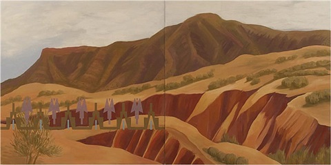 new mexico arroyos, 2011 by kay walkingstick