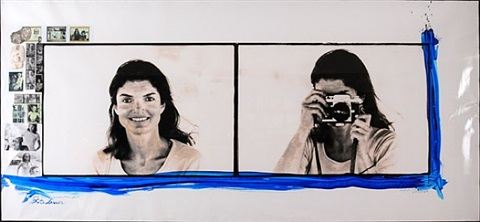 "jackie o ""photo lesson diptych"" on the ss. caroline, skorpios, greece by peter beard"