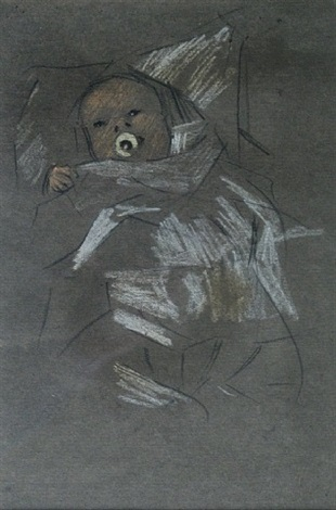 study of a baby by horace mann livens