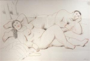 lovers by fernando botero