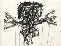 crucifixión by antonio saura