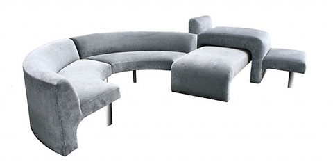 four-piece omnibus sectional by vladimir kagan, usa by vladimir kagan