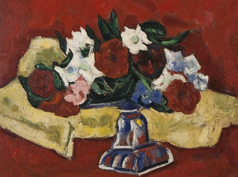 petunias from lachaise's garden by marsden hartley