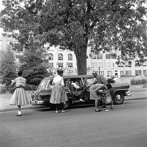"desegregation of central high school by the ""little rock nine"", little rock, 1956 by ernest withers"