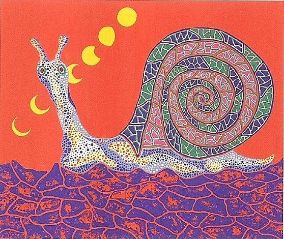 snail by yayoi kusama