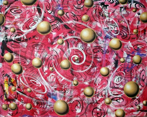 spiral spheres by kenny scharf
