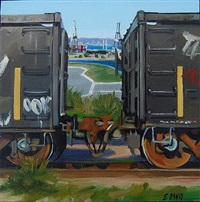 india basin train #5 by eileen david