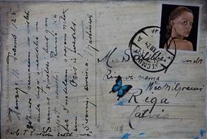 "aus der zyklus ""postkarten"" by agate apkalne"