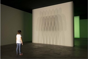 your uncertain shadow (black and white) by olafur eliasson