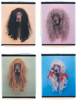 francis, cher, pat, and sally by william wegman