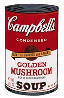 campbells soup ii: golden mushrooms (ii.62) by andy warhol