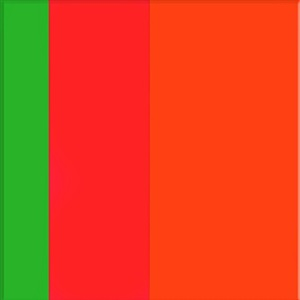 green, pink, orange by ron agam