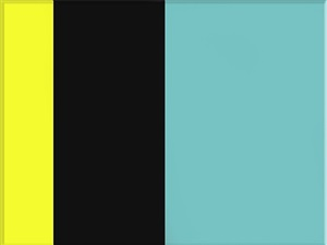 yellow, black, blue by ron agam