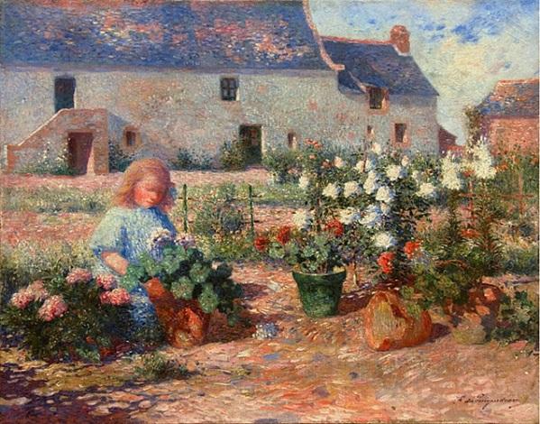 odette au jardin de kervaudu by ferdinand puigaudeau
