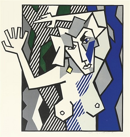 nude in the woods (c.174) by roy lichtenstein
