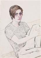 elizabeth peyton: klara (klara liden), 10 october, 2009, berlin